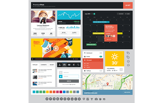 Multipurpose Flat UI Kit