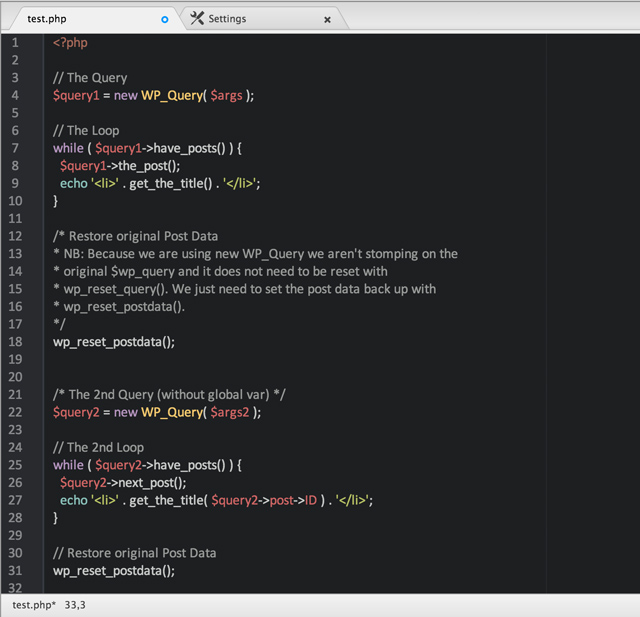 Multiple Loops mit wp_Query